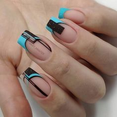 Stylish Nails, Classy Nails, Trendy Nails, Pink Nail Art, Pink Nails, Square Nail Designs, Nail Art Designs, Nails Design, Nail Manicure