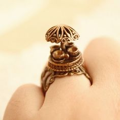 Tea cup ride - an inspired Mad Tea Party of Alice in Wonderland ring $20.00