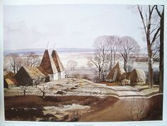 Early morning shadows  Kent.- Rowland Hilder