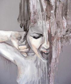"""""""Gravitá, Tecnica mista su legno. 54.5X46 cm, 2012"""" By """"Jessica Rimondi"""""""