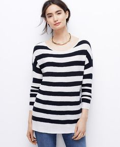 Image of Striped Cashmere Sweater