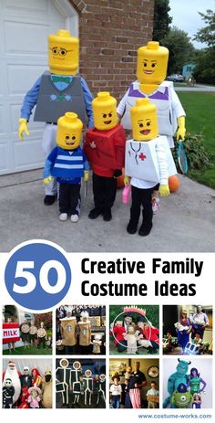 These pages showcase cute, innovative, and creative family costume ideas. All of the costumes on this site can be adapted for families, so let us encourage you to take a look around the site for ideas from all the other categories.