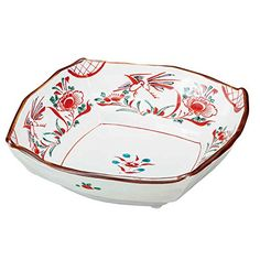 "Japanese drawn Ceramic Porcelain kutani ware. Dinnerware Serving bowl. Red picture."" Japanese ceramic Hagiyakiya K4-395 *** You can get more details by clicking on the image."