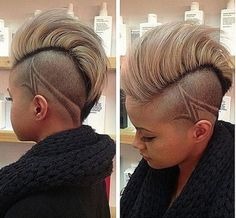 Side cut design Shaved Side Hairstyles,short, medium, long nd even with braids. … - New Hair Design Shaved Side Hairstyles, Undercut Hairstyles, Cool Hairstyles, Summer Hairstyles, Relaxed Hairstyles, Ladies Hairstyles, Braided Ponytail Hairstyles, Beautiful Hairstyles, Weave Hairstyles
