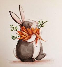 Happy Bunny Illustration
