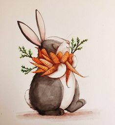 Happy Bunny Illustration