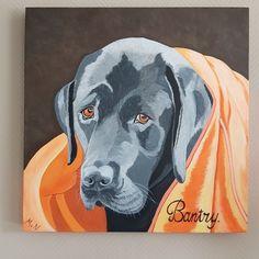 Lieve trouwe hond met droef ogen.
