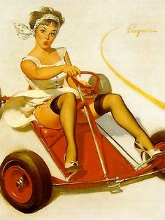 Pin Up and Go kart