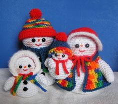 Pdf Crochet Pattern THE SNOW FAMILY от bvoe668 на Etsy