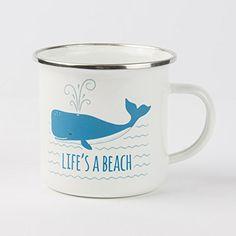 Life's a Beach Whale Enamel Mug : EN040 Sass & Bell https://www.amazon.co.uk/dp/B071P2PTRL/ref=cm_sw_r_pi_dp_U_x_sjiHAbNKTKX0V