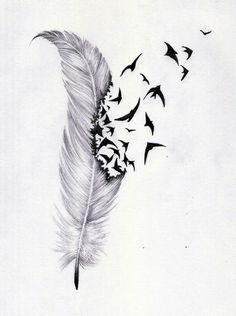 """Résultat de recherche d'images pour """"feather tattoo"""""""