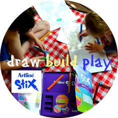 Artline Stix Review - Draw, Build, Play! A Back to School Special