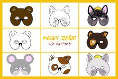 Karnevalové masky zvířátek - Testováno na dětech