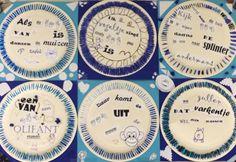 Spreekwoorden-Delfts blauw-knutselen-computertaak-samenwerken