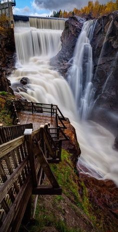 The Seven Falls - is a series of seven cascading waterfalls in Colorado Springs, Colorado. The sum of the height of the seven falls is 181 feet (55.17 m) and there are a total of 224 steps on the staircase from the base of the falls to the peak.