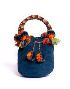 Little Pom Pom MOON X-small - Mochila Moon collection - mur Lv Bags, Purses And Bags, Mochila Crochet, Summer Tote Bags, Drawing Bag, Potli Bags, Diy Handbag, Boho Bags, Craft Bags