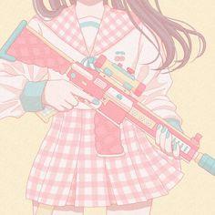 Anime pastel kawaii girl