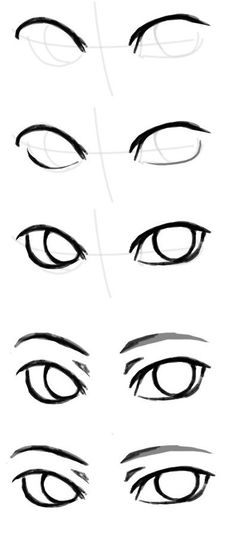 Picture of the rysowanie ludzi painting by Klaudia Wojcieska Face Drawing Eyes Drawing Tutorial Drawing Techniques, Drawing Tips, Drawing Ideas, Eye Drawing Simple, Anime Drawing Tutorials, Sketch Ideas, Drawing Lessons, Art Drawings Sketches, Easy Drawings