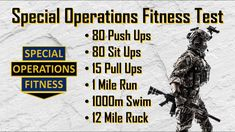 The Special Operations Fitness Test - YouTube Up Fitness, Conditioning, Push Up, Strength, Military, Workout, Youtube, Work Out, Youtubers