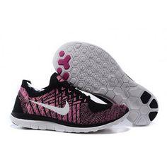 Women Nike Free 4.0 Flyknit Shoes Black Russet
