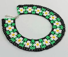 Free Pattern For Necklace Chamomile | Beads Magic