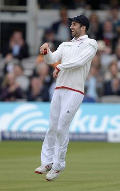 Mark Wood brought out the imaginary horse after taking a catch, England v New Zealand, 1st Investec Test, Lord's, 3rd day, May 23, 2015