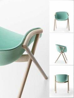 Designed by Ander Lizaso, the Bai chair was inspired by classic Scandinavian design, like the work of Eero Saarinen. Scandinavian Furniture, Scandinavian Design, Modern Furniture, Furniture Design, Scandinavian Interiors, Nordic Design, Plywood Furniture, Design Design, Inspiration Design