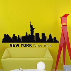 New York Skyline City Silhouette Wall Vinyl Decal Sticker Home Decor Art Mural Z493 WisdomDecalHouse http://www.amazon.com/dp/B00O531TOY/ref=cm_sw_r_pi_dp_JiTlub1J2WEYW