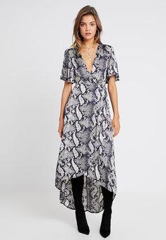 ff9aa621f3ab3e SNAKE PRINT WRAP FRONT LOW HIGH MIDI - Maxi dress - grey @ Zalando.co.uk  🛒. Snake Print DressAnimal ...