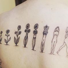 We're totally in love with this feminist flower evolution tattoo! Neue Tattoos, Body Art Tattoos, Sleeve Tattoos, Cool Tattoos, Tatoos, Ink Tattoos, Arrow Tattoos, Evolution Tattoo, Get A Tattoo