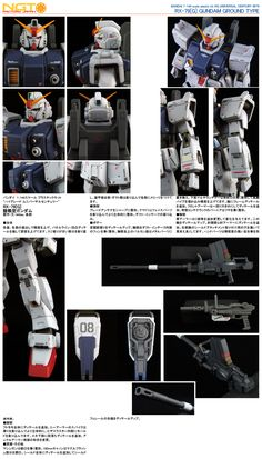 HG Gundam Ground Type - Customized Build Modeled by NGT Factory Japan Ground Type, Gundam Model, Mobile Suit, Japan, Building, Hguc, Models, Board, Tips