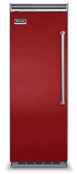 Viking VCRB5303LAR 30 Inch Built-In All Refrigerator with 18.4 cu. ft. Capacity, Spill-Proof Nano Technology Glass Shelves, Two Humidity Zone Drawers, ProChill Temperature Management System, Plasmacluster Ion Air Purifier: Left Hinge, Apple Red