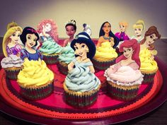 Disney princess themed cupcakes I baked for my cousin!