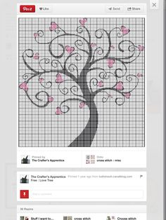 Cross stitch - This is a dead link, but again, if you can zoom in clearly enough to make out the pattern, it's free!