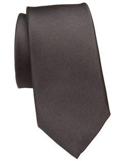 Schwarze Slim Krawatte von TOM - natürlich aus Seide.