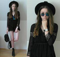 Get this look: http://lb.nu/look/7485744  More looks by Astrid H: http://lb.nu/astrid_h  Items in this look:  Dresslink Romper, Dresslink Watch, H&M Hat