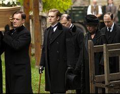 Mathew Crawley(Dan Steven's) at the funeral of Miss Lavinia Catherine Swire  - -   Downton Abbey