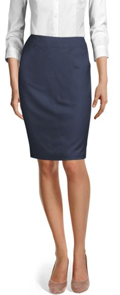 Discover made-to-measure fashion for women. Personalise your female suits, shirts, jackets and skirts at the best price. Blue Wool, Cotton Skirt, Suits For Women, Put On, Perfect Fit, Womens Fashion, Fashion Trends, Navy Blue, Classy