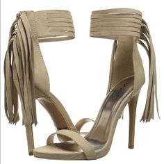 Tan Fringe Heels Size 9 Gorgeous heels, size 6, new Shoes Heels