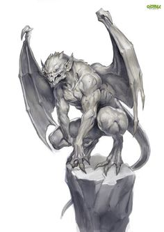The History of Gargoyles & Grotesques (Facts, Information, Pictures - Gargoyle (French/British) – They ward of evil spirits from churches and the streets. Mythological Creatures, Mythical Creatures, Fantasy Races, Fantasy Art, Gargoyle Tattoo, Gargoyle Drawing, Gothic Gargoyles, Demon Tattoo, Arte Obscura