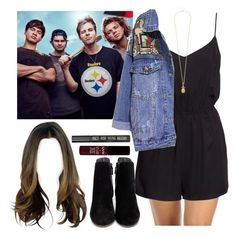 """""""Rock Sound photoshoot with the guys. -----> *Cynthia."""" by imaginegirlsdsos ❤ liked on Polyvore featuring H&M, Retrò, Oasis, Cole Haan and Topshop"""