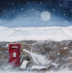 Catching the Last Post  -  Jules @ Juju & Bubba Art &Illustration www.jujuandbubba.co.uk