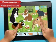 Make a Scene: Pets for iPad - an app for creating virtual sticker scenes. 3 sections: 'Around the house', 'Out in the hutch' and 'In the Cage'. Original Appysmarts score: 85/100 #kids