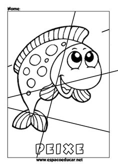 QUEBRA-CABEÇAS EDUCATIVOS GRÁTIS PARA IMPRIMIR, RECORTAR E MONTAR! - ESPAÇO EDUCAR Color Activities, Activities For Kids, Preschool Crafts, Crafts For Kids, Animal Puzzle, Background Powerpoint, File Folder Games, Snowman Ornaments, Teaching Tips