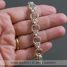 Interupted Byzantine Sterling Bracelet. $98.00, via Etsy.