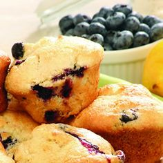 Sorghum Blueberry-Lemon Muffins