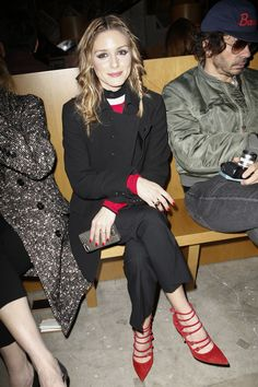 Olivia Palermo attends the Prada Fall 2017 Show on February 23, 2017 in Milan #MFW #FW17 #FROW
