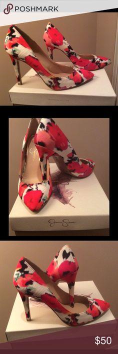 "Jessica Simpson Pink Multi NIB New Jessica Simpson. Fuchsia/Pink multi color Pump. Never worn. I need a size bigger. Beautiful Shoe. 4"" inches heel. Jessica Simpson Shoes Heels"