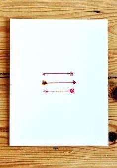 arrows print by AmyMarcella on Etsy