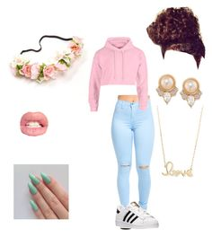 """"" by latricek on Polyvore featuring adidas, Carolee and Sydney Evan"